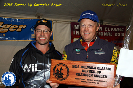 Runner Up Champion Angler